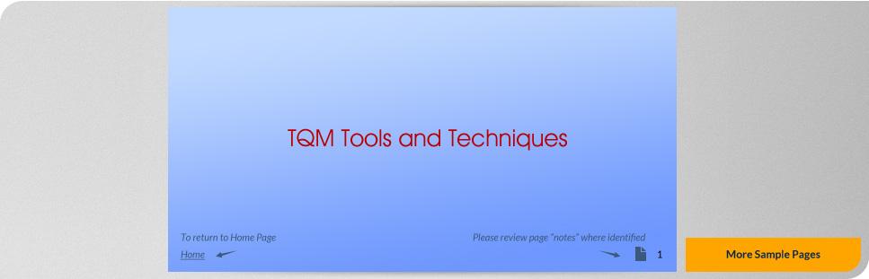 TQM Tools and Techniques Full Details