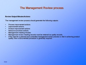 Quality System Management Review explained.