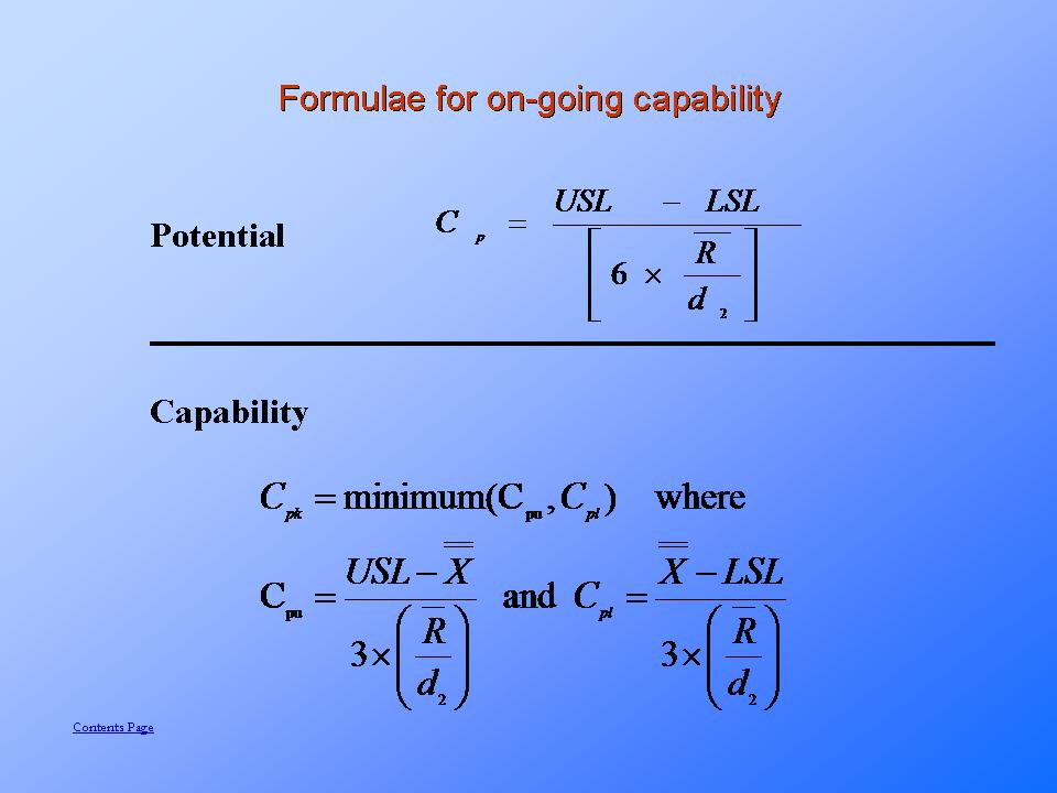 On going capability measurement