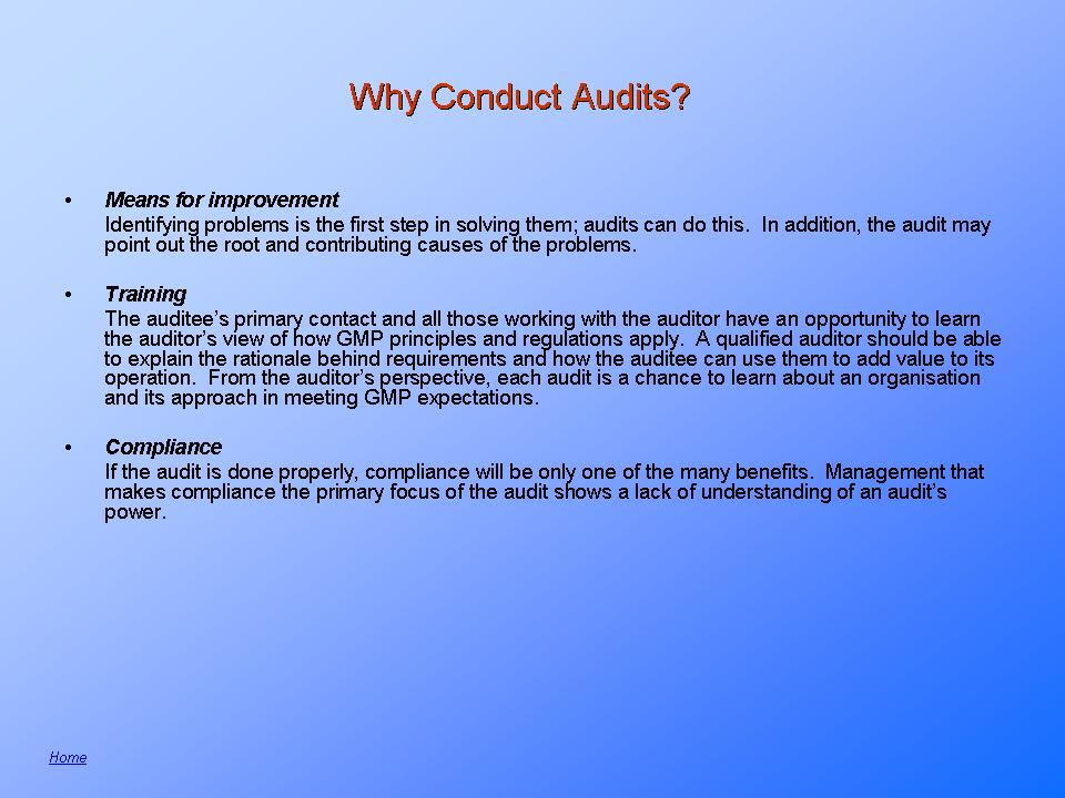What is auditing? Quality and Regulatory Compliance Audits ...