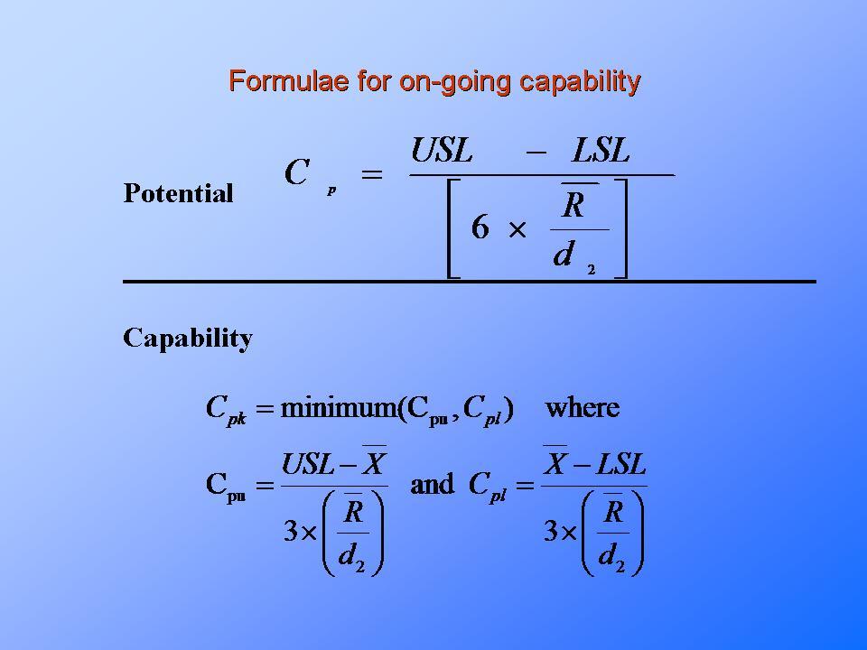 Process capability cp, cpk. Pp, ppk.