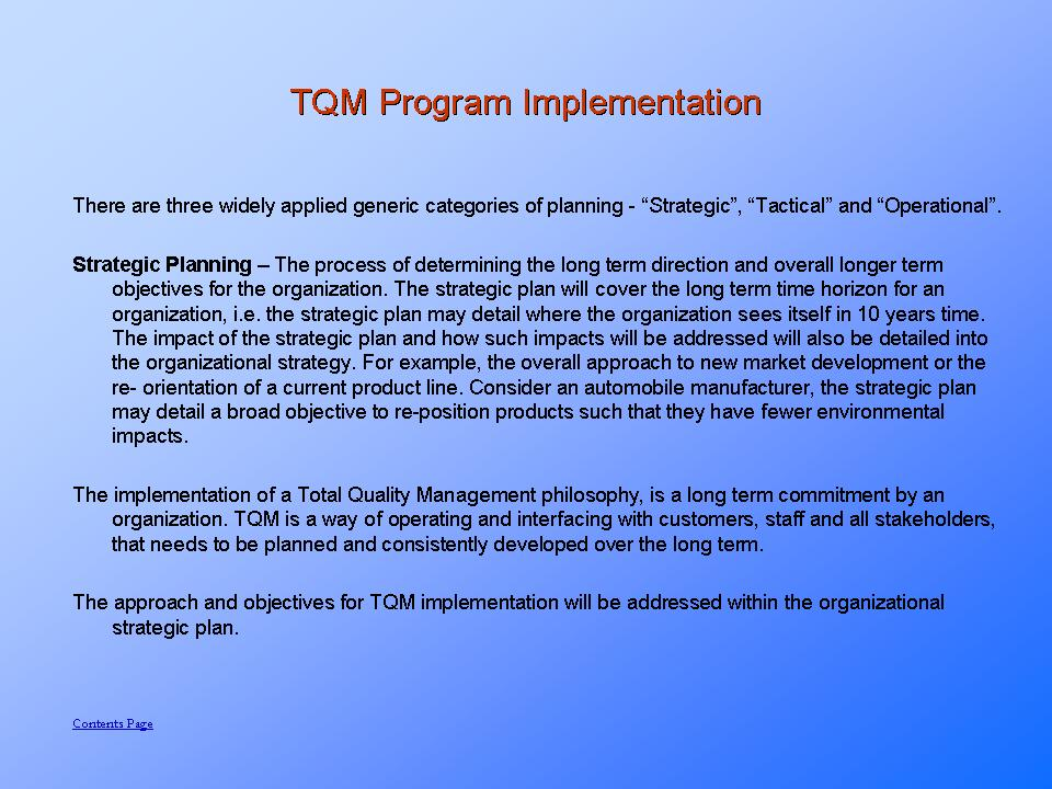 Sample TQM Page - Go to FULL DETAILS >>>