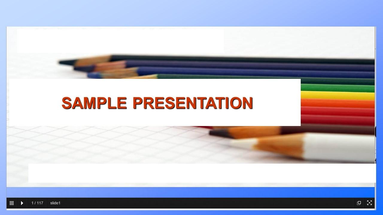 Sample information & training presentation.