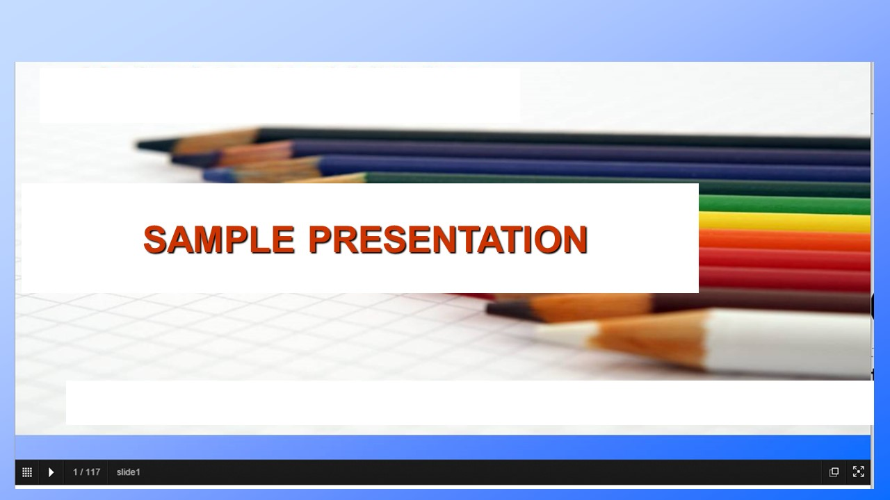 View sample presentation