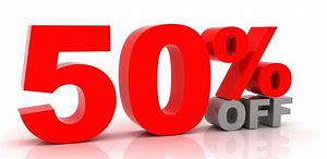 50% OFF. Monday 30th to Friday 4th December.