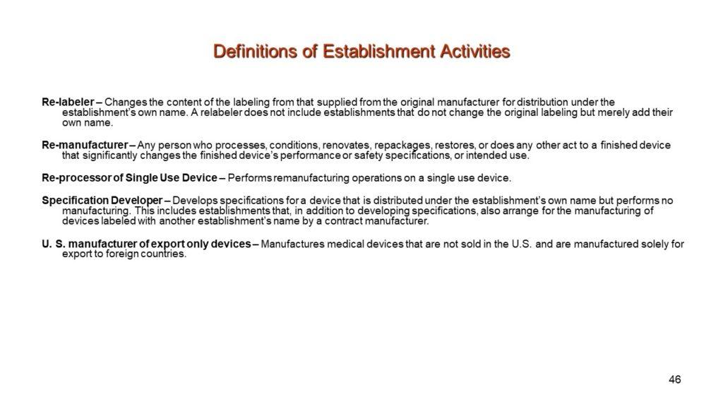 FDA Medical Device Regulations